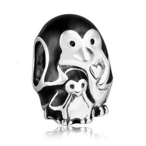 Pandora penguin mom with baby charm